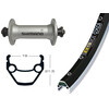 Exal ZX 19 Vorderrad 26x1.75 Alivio 430 QR 36L silber